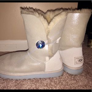 "Bailey Bling ""I Do"" Shimmer Ugg's"